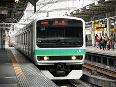 East Japan E231 train Ueno-Tokyo Line Ueno station