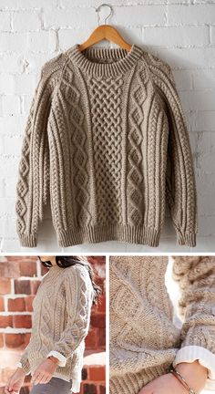 This just in: A perfect fisherman pullover follow link under picture. free pattern