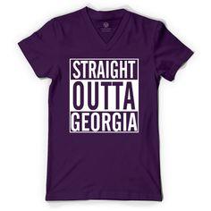 Straight Outta Georgia V-Neck T-shirt