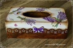 OWOCE  MOJEJ  WYOBRAŹNI: Chustecznik na Dzień Nauczyciela Tissue Box Covers, Tissue Boxes, Decoupage Jars, Kleenex Box, Tea Box, Painted Wine Glasses, Altered Boxes, Jewellery Boxes, Casket