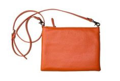 The perfect clutch/cross-over from ébeth!! Love the Watermelon/Orange color :))