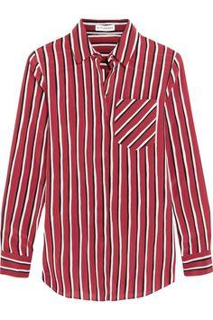 ALTUZARRA Striped Silk Crepe De Chine Shirt. #altuzarra #cloth #tops
