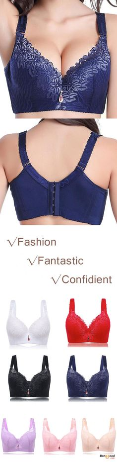 US$13.89 + Free shipping.Lace Embroidery,Sexy/Push Up,Thin Underwire,5/8 Cup,Removable Straps,4×5 Hook-and-eye.Colors: Black, Apricot, Pink, Blue, Purple, Red, White.Size: C-E Cup, 38/85-50/115 Underbust.Buy now!