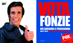 """Vota Fonzie""  - Yes I AM per Fox Fox Tv"