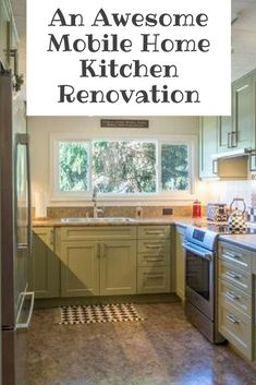 What a makeover! Mobile Home Kitchen Cabinets, Mobile Home Kitchens, Mobile Home Living, Smart Kitchen, Home And Living, Mobile Home Renovations, Mobile Home Makeovers, Home Remodeling, Triple Wide Mobile Homes