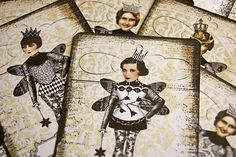 Steampunk Fairy Art Cards - make your own personalised hang tags