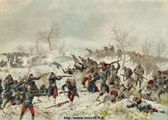 Batalla de Le Mans Champagne el 11 de enero 1871 - G. Koch.