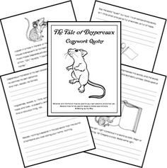 The Tale of Despereaux Copywork Pages (FREE!) from Walking by the Way