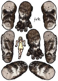 King Kong 1933 jointed paper doll. Page 2. by MadunTwoSwords.deviantart.com on @DeviantArt