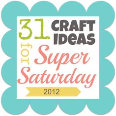Awesome ideas for Super Saturday! #crafts