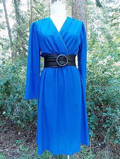Sheer Dress Size Medium Blue Beaded Vintage 80s Full Swing Secretary #LindaAllardforEllenTracy #Sheath #WeartoWork