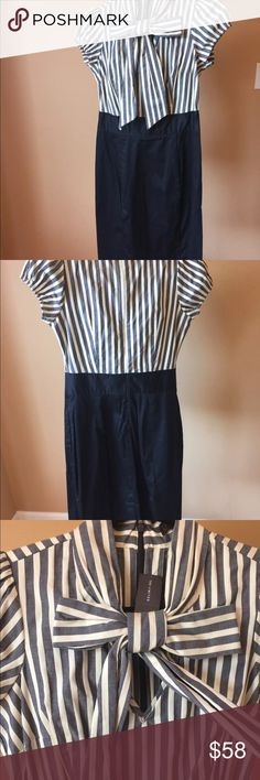 The Limited Striped Dress W/ Bow NWT Adorable The Limited Striped Dress. Any Questions Please Ask Thanks for Browsing My Closet!! Happy Poshing!!! 🎉🎉🎁🎀 The Limited Dresses