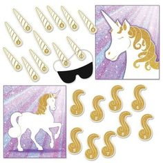 0a6ce3c4814 Check out the deal on Unicorn Party Game Pin the Horn or Pin the Tail at  Party at Lewis Elegant Party Supplies.