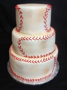 """Dirty"" baseball - by CakesbyMelissa @ CakesDecor.com - cake decorating website"