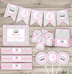 ★★★ PRINTABLE DIGITAL FILE ★★★    ELEGANT ROYAL PARTY PACKAGE FOR GIRL THEME    ★What to Do★  At check out in the Note to Seller Area OR IN A