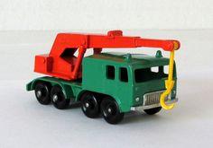 Vintage Matchbox Lesney Faun 8 Wheel Crane Truck #30 1965 #MatchboxLesney #Faun