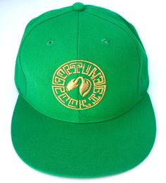 LA label Fortune Cookie's signature logo snapback in kelly green. $35.00