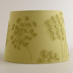 Green Blossoms Embroidered Table Lamp Shade | World Market