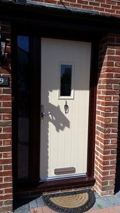 composite door Cream Cottage 1 in Rosewood frame by #XtremeDoor