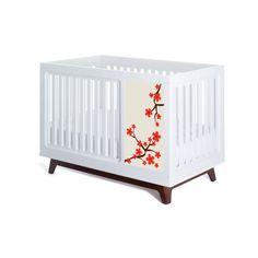 Muu Sam Red Blossom Panel Design Crib Set - MUU-101B/MUUP-906-12-A