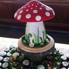Toadstool Mushroom cake!