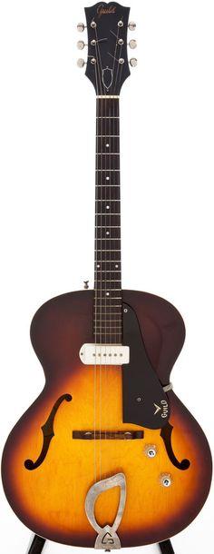 1962 Guild X-50 Sunburst Hollow Body Electric guitar.