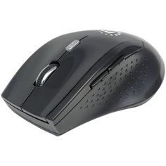 MANHATTAN 179386 Curve Wireless Optical Mouse (Black). Precision optical performance in an agile, modern design with USB micro receiver ;  5 buttons with scroll wheel ;  2.4GHz RF technology offers wireless freedom with effective range up to 33ft;  Auto power management helps maintain proper battery levels;  On-board storage compartment protects USB receiver from loss & damage;  Top-mount push-button control instantly shifts resolution from 800, 1200 & 1600dpi;  Ergonomic shape & no-slip...