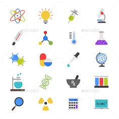 Science and Medical Flat Color Icons — Vector EPS #helix #science • Available here → https://graphicriver.net/item/science-and-medical-flat-color-icons/15873194?ref=pxcr