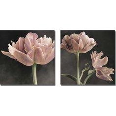 Sondra Wompler 'Tulip I and II' 2-piece Canvas Art Set