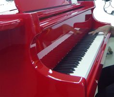 I have had a piano before but it had to be junked due to the improper storage trusted in someone else..... IF one shall adorn our home & what better one than a beautiful & rich red colour! ♥  THEN I would need some lessons to play the beauty & give it life!