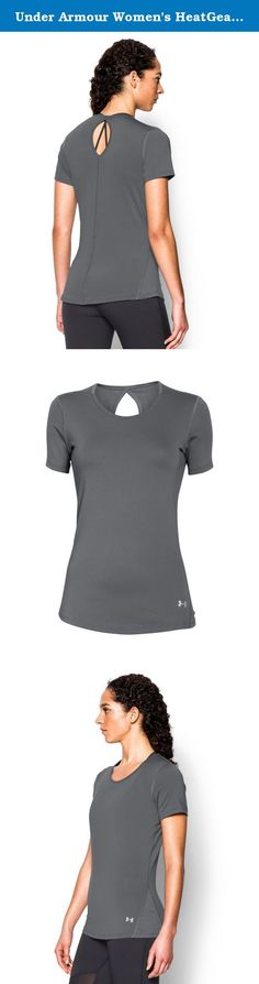 Under Armour Women's HeatGear CoolSwitch Short Sleeve, Graphite (040), Large. UA CoolSwitch uses an exclusive coating on the inside that pulls heat away from your skin, making you actually feel cool & able to perform longer. Super-light HeatGear fabric delivers superior coverage without weighing you down. Signature Moisture Transport System wicks sweat to keep you dry & light. Cutout back. Mesh side paneling for extra ventilation. Front UA logo graphic.