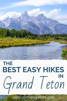 These are the best easy hikes in Grand Teton National Park. Of all the things to do in Grand Teton that can make your vacation an adventure, hiking is at the top. These shorter trails will make it easy to go hiking and have an adventure. Grand Teton National Park, National Parks, Things To Do, Good Things, Go Hiking, The Good Place, Trail, Road Trip, America