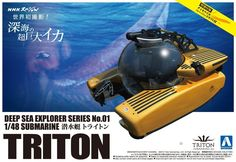 ‪Deep Sea Explorer Submarine Triton 1/48 ( Aoshima ) http://www.japanstuff.biz/ CLICK THE FOLLOWING LINK TO BUY IT http://www.delcampe.net/page/item/id,0379084688,language,E.html