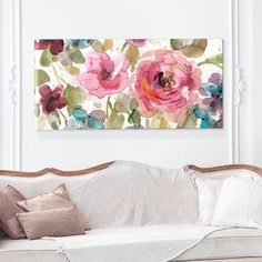 Bring a splash of color to any room with this lovely Garden Palette I canvas wall art from Artissimo Designs, featuring a watercolor-inspired floral design. Big Canvas, Canvas Wall Art, Wall Art Prints, Floral Wall Art, Wall Art Sets, Art Decor, Home Decor, Printable Wall Art, Watercolor Art