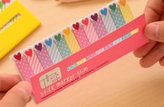 Heart Flags Perfect for Erin Condren, Plum Paper, and Filofax Planners