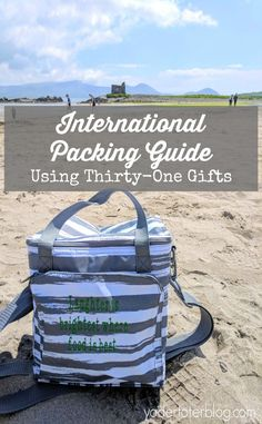 Packing for International Travel with Thirty-One Gifts - What products helped our family of 5 to pack in carry-ons only.  Check out the best products for travel.  #thirtyone Travel Tips With Baby, Packing List For Travel, Thirty One Organization, Travel Organization, Travel Scrapbook Pages, Images Of Ireland, Road Trip Hacks, Thirty One Gifts, Packing Light