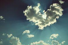 heart shaped cloud!