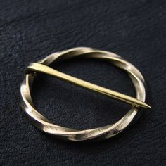 Bronze medieval round pin by Sulik on Etsy