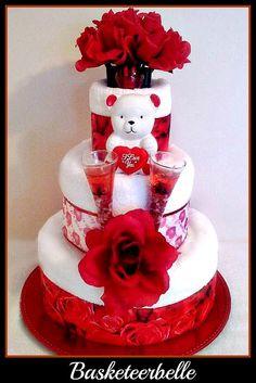 Valentine's Day towel cake :D