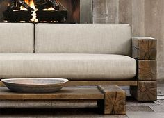 Nice 48 Modern Rustic Style Decor Ideas To Update Your Home. : Nice 48 Modern Rustic Style Decor Ideas To Update Your Home. Rustic Couch, Wood Sofa, Bedroom Rustic, Rustic Nursery, Rustic Outdoor Furniture, Rustic Decor, Rustic Style, Outdoor Benches, Outdoor Couch