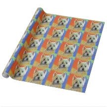 WESTIE CELEBRATION WRAPPING PAPER