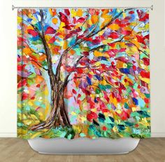 Karen Tarlton Shower Curtain collaboration with DiaNoche Designs - Poetry of the Tree