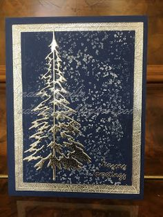 I did not make many Parchment Christmas cards this year, so this post will be short and sweet. Homemade Christmas Cards, Stampin Up Christmas, Christmas Cards To Make, Xmas Cards, Homemade Cards, Handmade Christmas, Holiday Cards, Christmas Crafts, Simple Christmas