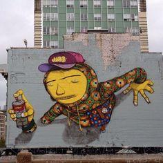 I've seen many graffittis with...