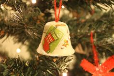 """Gingle Bells"" Handmade Ornament   #xmas #decoupage #Decor"