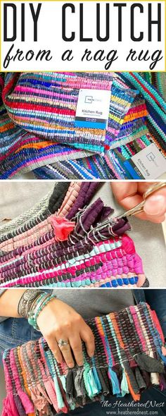 DIY Rug Ideas – Desire you could remodel your floors, yet significant improvements aren't in the budget plan now? Read Fab DIY Rug Ideas: Weave New Life Into Old Floors Diy Clutch, Diy Purse, Sewing Tutorials, Sewing Projects, Rag Rug Diy, Rag Rugs, Kilim Rugs, Diy Pom Pom Rug, Best Leather Wallet