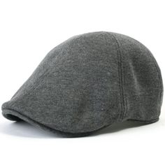 ililily Soft cotton Newsboy Flat Cap Pre-curved ivy stretch-fit Driver Hunting Hat (flatcap-506-1), Black at Amazon Men's Clothing store: Mens Hats