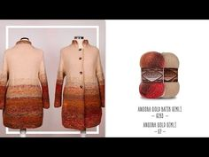 YouTube Freeform Crochet, Crochet Top, Knitted Coat, Videos, Knitting Patterns, Fur Coat, Winter Hats, Colours, Vest