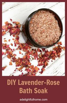 This bath soak was created to provide relaxation for the body and mind. The combination of salts in this bath soak help to soothe tired muscles and may even draw out toxins. The minerals contained Rose Bath, Lavender Roses, Mason Jar Gifts, Bath Soak, Homemade Beauty Products, Bath Salts, Homemade Gifts, Real Food Recipes, Herbalism