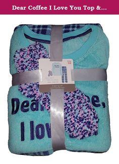 Dear Coffee I Love You Top & Bottoms w/ Socks 3 Piece Pajama Sleep Set - 2XL. Dear Coffee I Love You Top & Bottoms w/ Socks 3 Piece Pajama Sleep Set.